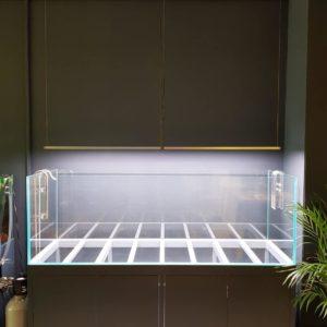 ILA aluminium aquarium meubel 180x60x80 cm antraciet grijs
