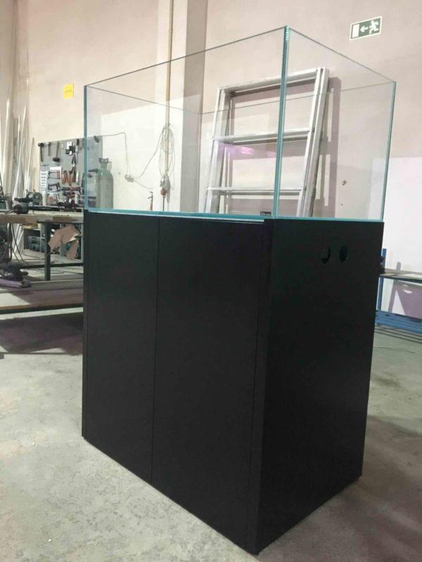 ILA aquarium meubel 60x40x80 cm antraciet grijs