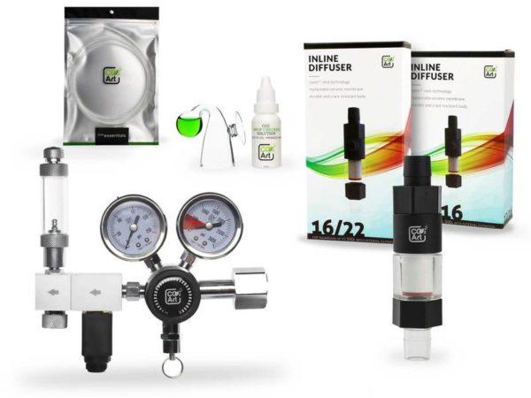 CO2art pro-elite dual stage regulator set